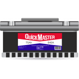 аккумулятор 75 QUICK MASTER L (R)-(0)