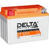 Аккумулятор 12V11h Мото Delta AGM CT 1211 п/п YTZ12S, YTZ14S 151x86x112/210