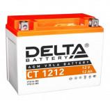 Аккумулятор 12V12Ah Мото Delta AGM CT 1212 п/п JIS YTX14-BS, YTX12-BS 150х86х131/180 EN