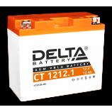 Аккумулятор 12V12Ah Мото Delta AGM CT 1212.1 п/п YTX12B-BS 151х71х130/155 EN