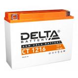 аккумулятор 12V16Ah Мото Delta AGM CT 1216 о/п JIS YB16AL-A4 205х70х162/200 EN