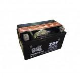 аккумулятор 12V7Ah Мото ZDF MF Black 1207 п/п YTX7A-BS 151х88х94/90 EN