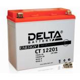 Аккумулятор 12V18Ah Мото Delta AGM CT 12201 о/п JIS YTX20L-BS, YB16LB, YB18L-A 177х88х154/270 EN