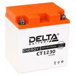 Аккумулятор 12V30Ah Мото Delta AGM CT 1230 о/п YTX30L, YТX30L-BS, YB30L-B 168x126x175/300 EN