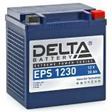 Аккумулятор 12V30Ah Мото Delta EPS 1230 о/п YTX30HL-BS, YTX30L-B, YTX30L 166х130х175/400 EN