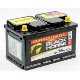 Аккумулятор Black Horse 6СТ-75.0 низкий