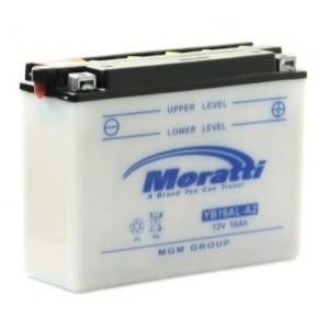 аккумулятор 12V16Ah Мото Moratti (YB16AL-A2) с/зар. б/эл.