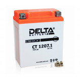 Аккумулятор 12V7Ah Мото Delta CT 1207.1 о/п (YTX7L-BS) 114х70х130/100 EN