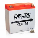 Аккумулятор 12V12Ah Мото Delta CT 1212.2 п/п (YT14B-BS) 151х71х146/155 EN