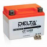 Аккумулятор 12V9Ah Мото Delta AGM CT 1209 п/п YTX9-BS 152х87х107/135 EN