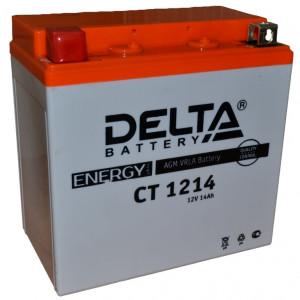 Аккумулятор 12V14Ah Мото Delta AGM CT 1214 YTX14-BS,YTX14H-BS,YTX16-BS п/п