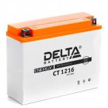 аккумулятор 12V16Ah Мото Delta AGM CT 1216 о/п YB16AL-A2 205x70x162/200EN