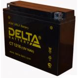 12v16 а/ч (R+) 160А Delta мото  CT 1216